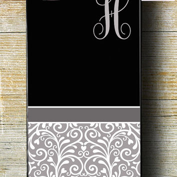 iPhone 5s Case iPhone 6 plus case iPhone 5c case iPhone 6 phone case black and grey iphone case with monogram