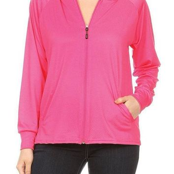 Fuchsia Fuel Active Jacket w/ Hood