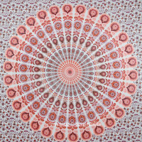 Colorful Psychedelic Mandala Wall Tapestry Beach Throw Hippie Bedding Bedspread on RoyalFurnish.com