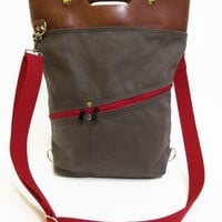 Charcoal & Red Alvar Bag | BRIKA - A Well-Crafted Life
