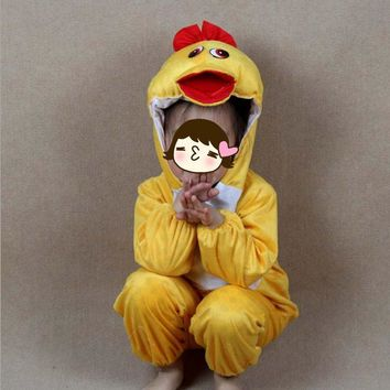 2017 New Boy Girls Cartoon Animal Costume Kids Duck Cosplay Clothing Jumpsuits New Year Carnival Costumes Party Children Gift