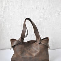 CHRISTMAS SALE. Leather bag dark brown leather bag  woman bag  tote bag everyday bag casual bag custom tote bag Shoulder bag