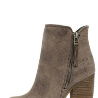 Sbicca Percussion Taupe High Heel Booties