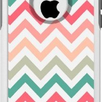 OtterBox Commuter Apple iPhone 5C Case - Chevron Peach Pink Green Red OtterBox Case