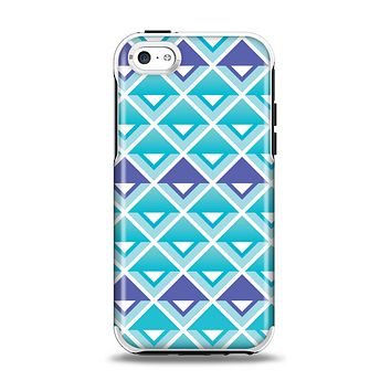 The Triangular Teal & Purple Abstract Cubes Apple iPhone 5c Otterbox Symmetry Case Skin Set