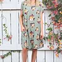 Emery Floral Bouquet Dress {Sage Mix}