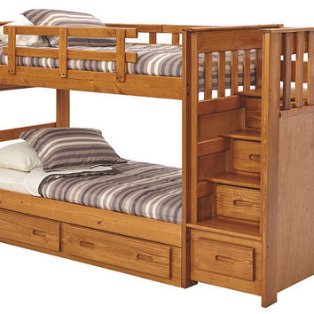 New Sibley Twin over Twin Stairway Bunk Bed