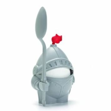 1 X Arthur Boiled Egg Cup Holder with Eating Spoon Knight in shining armour