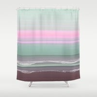 Early Morning Seas 2 Shower Curtain by Jennifer Warmuth Art And Design
