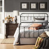 INSPIRE Q Giselle Dark Gray Graceful Lines Victorian Iron Metal Bed | Overstock.com Shopping - The Best Deals on Beds