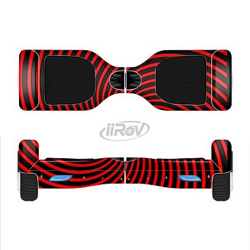 The Red & White Hypnotic Swirl Full-Body Skin Set for the Smart Drifting SuperCharged iiRov HoverBoard