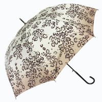 Grey Leopard long handled automatical sun umbrella, soumbrella.com