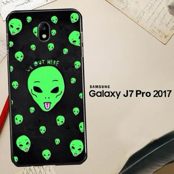 Alien We Out Here X4148 Samsung Galaxy J7 Pro SM J730 Case