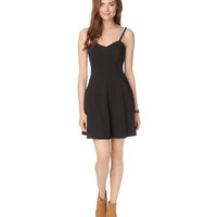 Aeropostale  Womens Solid Flair Dress - Black, X-Small