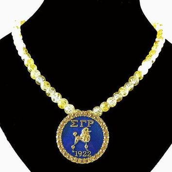 Sigma Gamma Rho Sorority  SGR 1922 crystal necklace Jewelry
