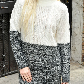 MINKPINK Two Faced Cable Knit Dress