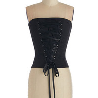 ModCloth French Short Length Strapless Victorian Visage Top