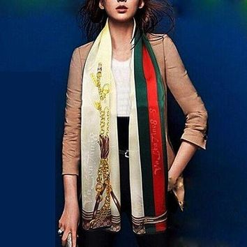 ONETOW Perfect Gucci Women Fashion Accessories Sunscreen Cape Scarves Silk  Scarf