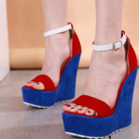Hot style high heel wedges are hot sellers