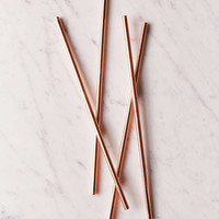 "W&P Design 10"" Metallic Straws Set 