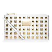 MICHAEL Michael Kors Large Pyramid-Stud Zip Clutch - Michael Kors