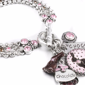 The Chocolate Rabbit Charm Bracelet