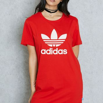 adidas Originals T-Shirt Dress With Trefoil Logo