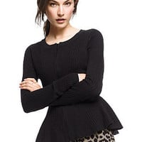 Zip-up Peplum Cardi Sweater - Victoria's Secret