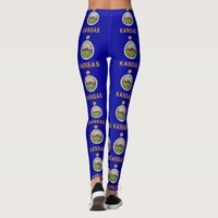 Leggings with flag of Kansas State, USA