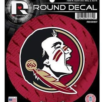 "Florida State Seminoles NEW LOGO FSU 4"" Round Auto Decal Sticker University"