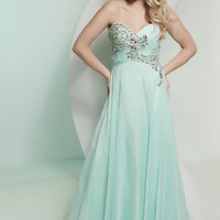 Strapless Shimmer Detail Evening Gown, prom dress.