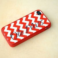 Personalized Geometric Phone Case, Cover, iPhone, Samsung Galaxy, Rubber Silicone, College Football, Cheerleader, Chevron, Red + Blue