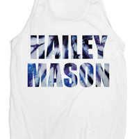 Tie Dye GraphicTank in White - HaileyMason - HaileyMason, LLC Store