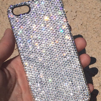 iPhone 6/6 Plus OR Galaxy S5 Case Made With Swarovski Elements Crystals in SMALL ss9 Crystals