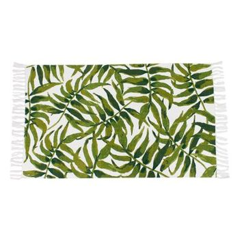 "Leon Green Leaf 2'3""x3'9"" Rug with Fringe"