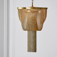 The Emily & Meritt Metal Chain Chandelier