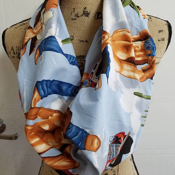 Cowboy - country - western - Alexander - Henry - print - infinity  - scarf