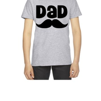 Dad Father's Day Mustache - Youth T-shirt