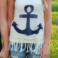 Cover Me Up Anchor Tank- Ivory