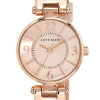 Women's Anne Klein Hinge Case Watch, 32mm - Blush/ Rose Gold