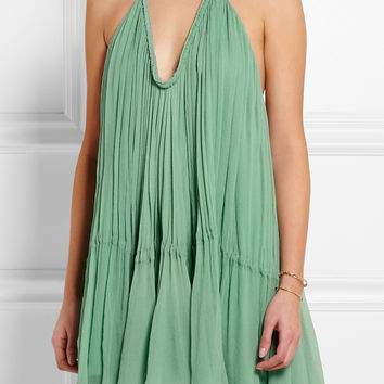 Chloé | Crinkled silk-georgette mini dress | NET-A-PORTER.COM