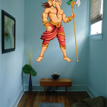 cik784 Full Color Wall decal elephant god Ganesh Hindu meditation hall bedroom hall