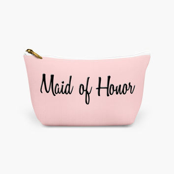 Maid of Honor Make Up Bag - Wedding Day Make Up Bag - Wedding Party Cosmetic Case - Maid of Honor Cosmetic Bag - Matron of Honor