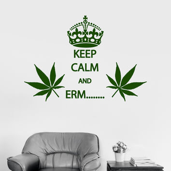 Vinyl Wall Decal Cannabis Rastafarian Quote Smoking Weed Stickers (ig4031)