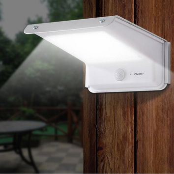 20 Led Solar Lamp Motion Sensor Outdoor Waterproof Body Induction Sound Control Battery Power Garden Wall Light Courtyard Home