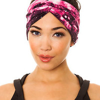 See You Monday Turban Red Galaxy