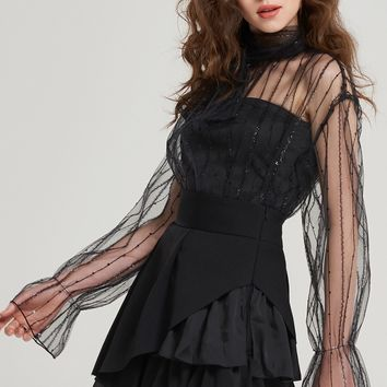 Chelsea See Through Witch Blouse Discover the latest fashion trends online at storets.com