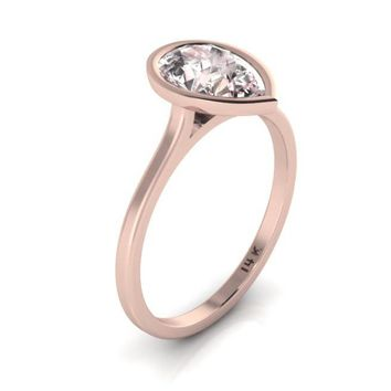 8ece12f67d5af Best Pear Shaped Rose Gold Engagement Rings Products on Wanelo