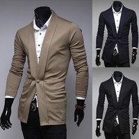 One Button Modern Men Fashion Cardigan