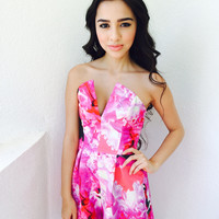 Fuschia Blossom Playsuit {Boutique Collection}